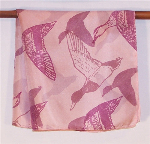 Silk Pocket Square, Pink Ducks - The Painted Trout