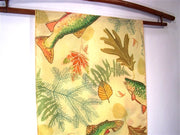 Silk Scarf: Brook Trout and Autumn Leaves - The Painted Trout
