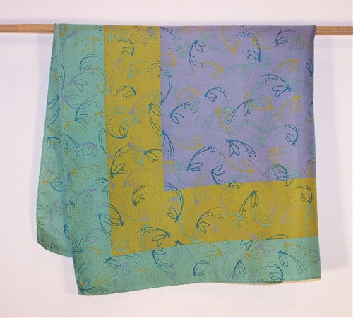Scarf: Silk Bandanna, Swirling Mayflies - The Painted Trout