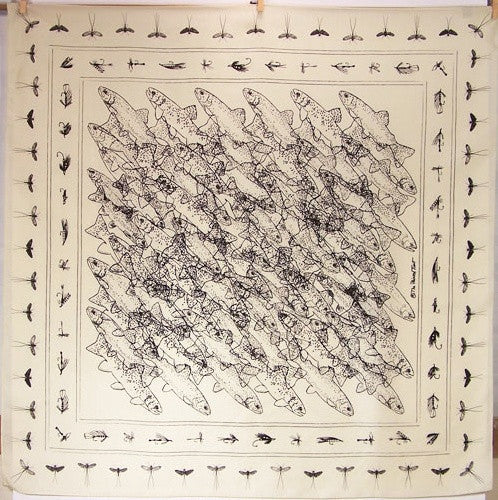 Silk Scarf: LIMITED EDITION Troutlines - The Painted Trout
