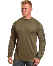 Filson Long Sleeve Barrier T-shirt - Warm Khaki - The Painted Trout