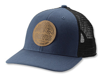 Orvis Cascadia Leather Patch Trucker Hat