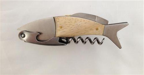 Fish Corkscrew Bottle Opener