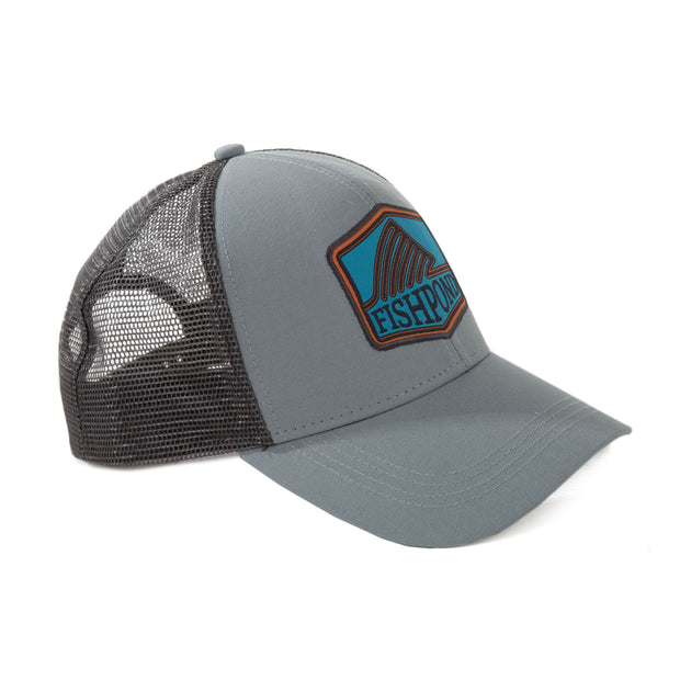 FISHPOND Dorsal Fin Trucker Hat - Light Slate - The Painted Trout