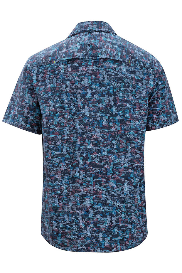 ExOfficio Men's Estacado Short-Sleeved Shirt - The Painted Trout