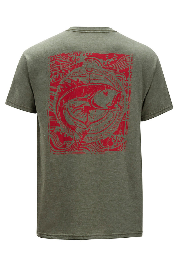 EXOFFICIO Men's Excursion Tee Shirt - The Painted Trout