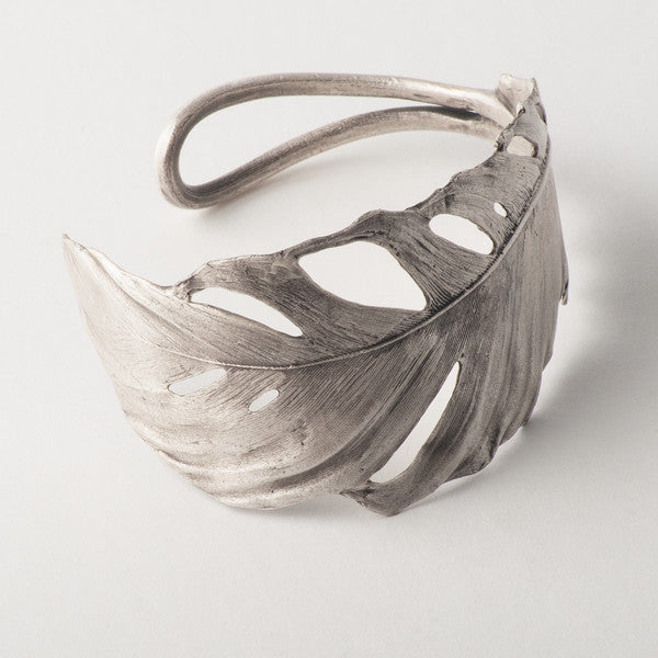 Michael Michaud Feather Bracelet - Cuff Silver