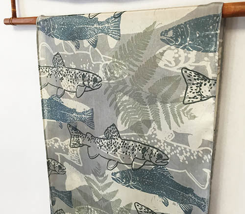 Silk Scarf: Fifty Shades of Grey Trout - The Painted Trout