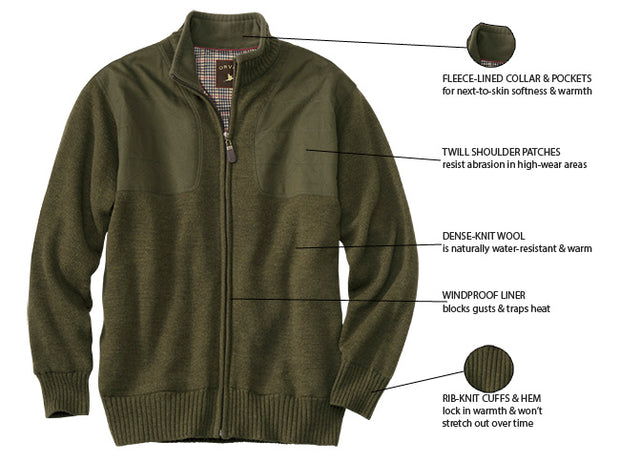 Orvis Foul Weather Lined Sweater