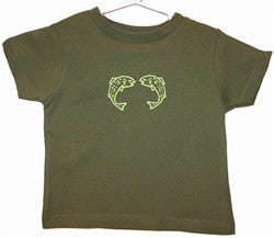 Toddler Tshirt - Green Two Fish - The Painted Trout