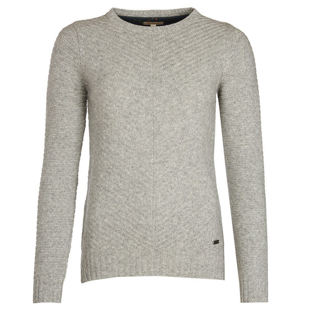BARBOUR Greendale Crew Sweater - Light Grey Marl - The Painted Trout