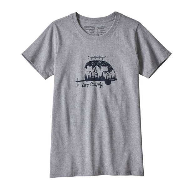 Patagonia Women's Capilene Daily Graphic T-Shirt Live Simply Trailer