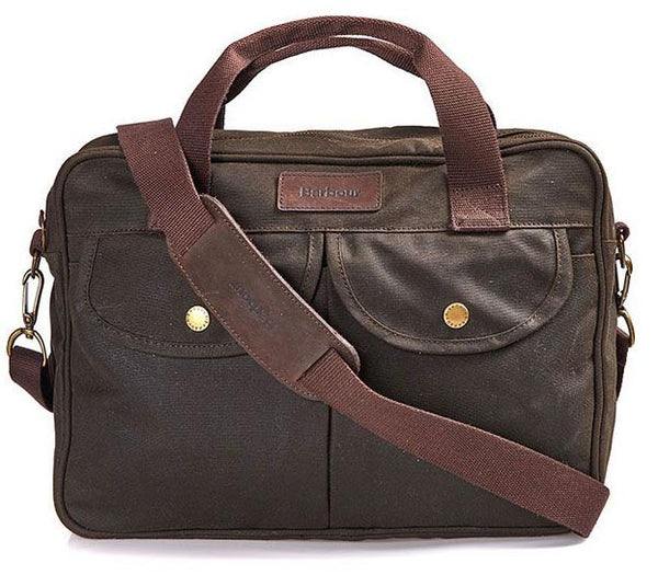 Barbour Wax Longthorpe Laptop Bag