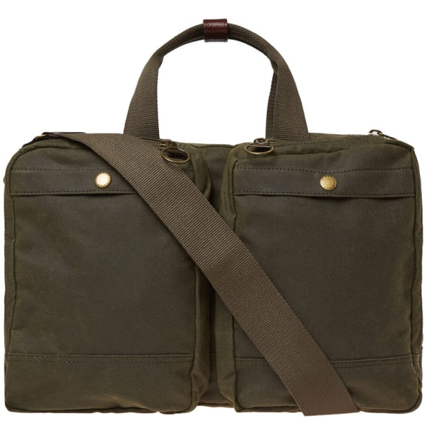 Barbour Lowerfell Business Bag - Archive Olive - The Painted Trout