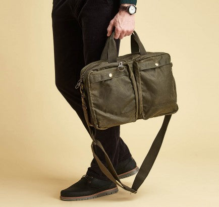 Barbour Lowerfell Business Bag Archive Olive - The Painted Trout