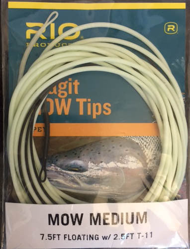 SKAGIT MOW MEDIUM TIP 2.5FT. T-11/7.5FT. FLOAT BLACK/GREEN - The Painted Trout