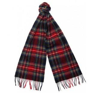 Barbour New Check Lambswool and Cashmere Scarf - The Painted Trout