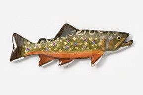 Handpainted Pewter Pin: Brook Trout