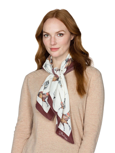 Dubarry Tullynally Silk Scarf Pheasant Square - The Painted Trout