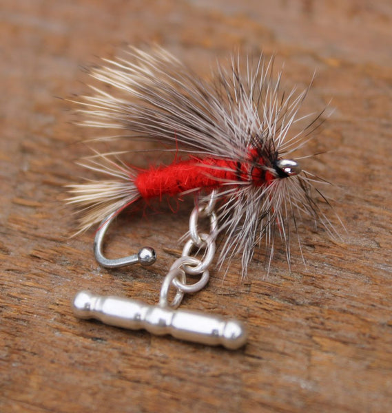 Tied Flies Cufflinks - Red Stimulator - The Painted Trout