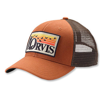 ORVIS Retro Flush Trucker Hat Brown/Orange