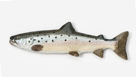 Handpainted Pewter Pin: Atlantic Salmon - The Painted Trout