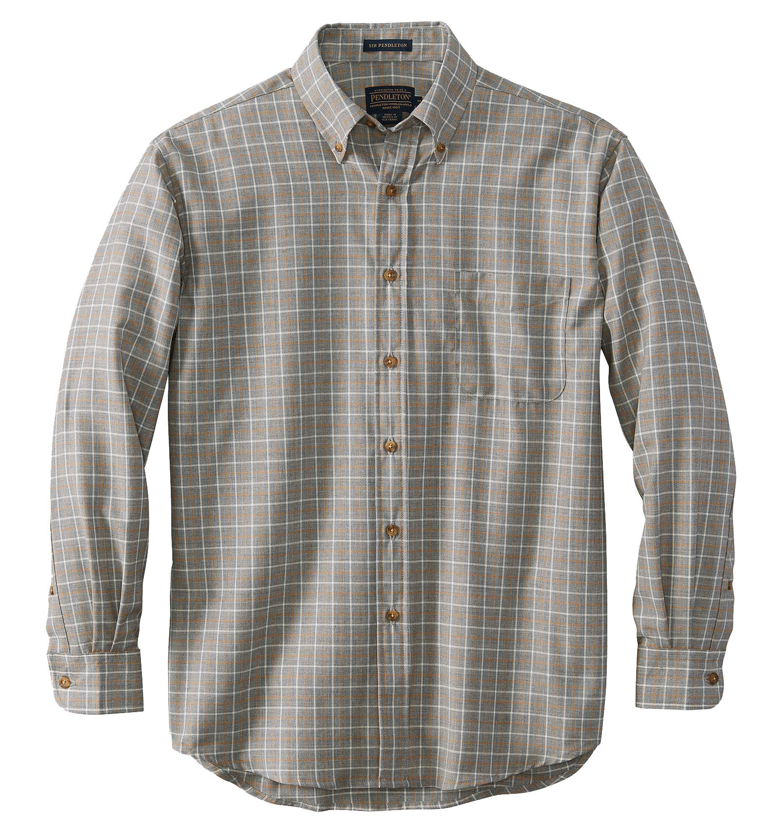 PENDLETON Sir Pendleton Button Down Wool Shirt