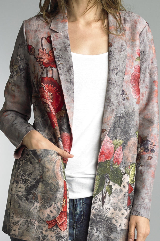 Tempo Paris Print Sueded Jacket