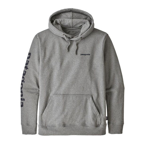 f3f9cb808cd PATAGONIA Men s Text Logo Uprisal Hoody - Gravel Heather