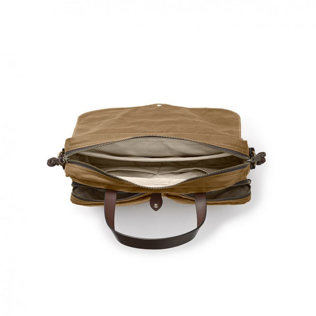 FILSON 24 Hour Tin Briefcase Dark Tan - The Painted Trout
