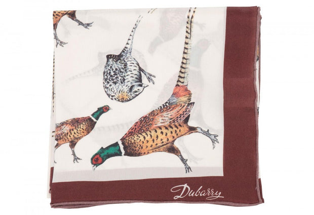 Dubarry Tullynally Silk Pheasant Print Scarf - The Painted Trout