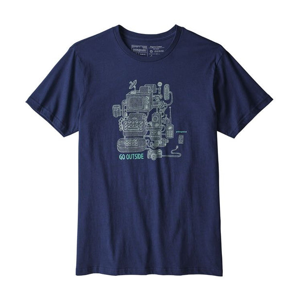 Patagonia Men's Unplug Organic T-shirt Navy