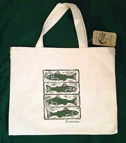 Tote Bag - Woodcut Trout - The Painted Trout