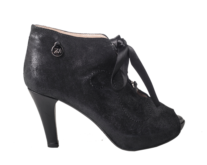 CC - Curly Fun Bootie Metallic Black