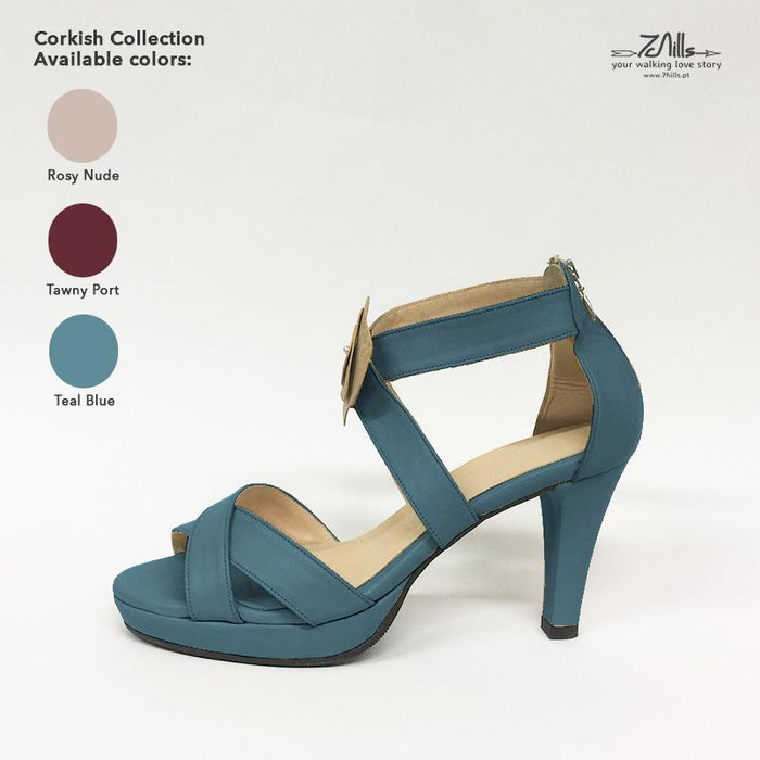 Corkish Collection SS18 - Sandal Teal Blue