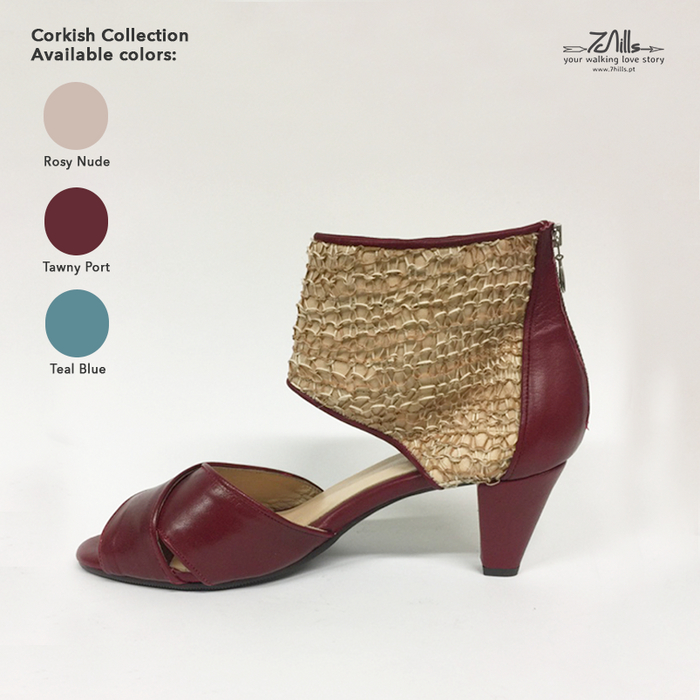Corkish Collection SS18 - Sandal medium heel Tawny Port
