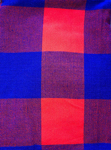 ONW Maasai XL Scarves - COBALT/RED