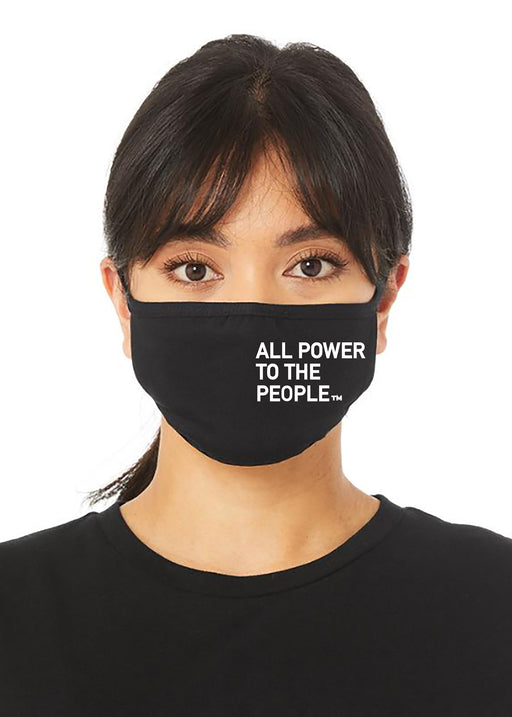 All Power 2-PLY REUSABLE FACE MASK-BLACK