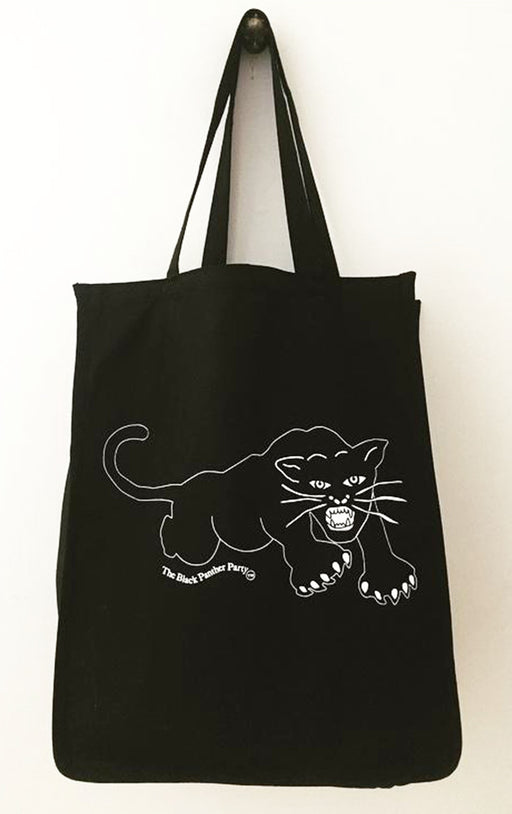 PANTHER / BLACK XL Tote Bag HPN11