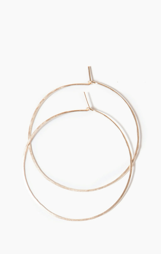 HARP DESIGNS - Everyday Hammered Hoops - GOLD FILL