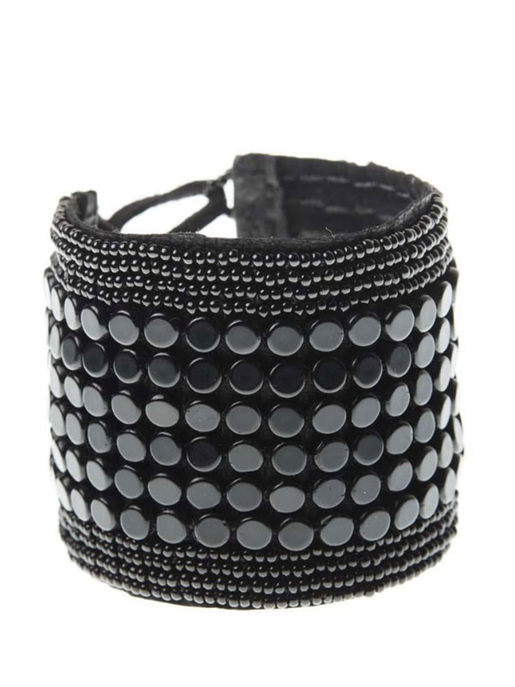 Sidai Leather Sipolio Multi Bracelet Cuff - BLACK/BLACK
