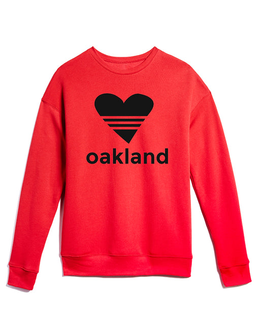UNISEX SPORTY HEART/ BRIGHT RED Sweatshirt ONW-SPHT-200-RED
