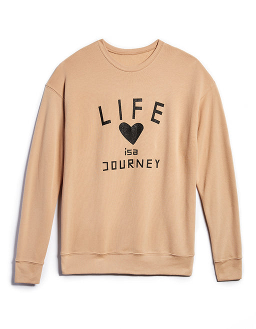 Unisex LIFE JOURNEY / TAN Sweatshirt ONW-JRNY-207-TAN