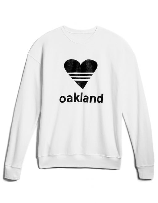 UNISEX SPORTY HEART/ WHITE Sweatshirt ONW-SPHT-203-WIT