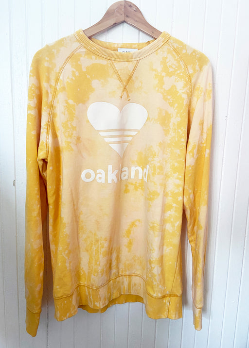 Splash Dyed SPORTY HEART/ GOLD Sweatshirt ONW111