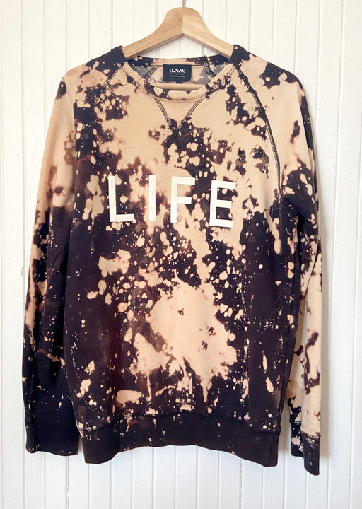 LIFE / Multi Bleach Dye Sweatshirt ONW111