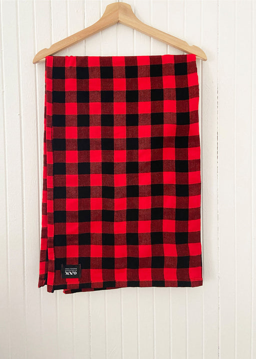 ONW Maasai XL Scarves - BLACK/RED