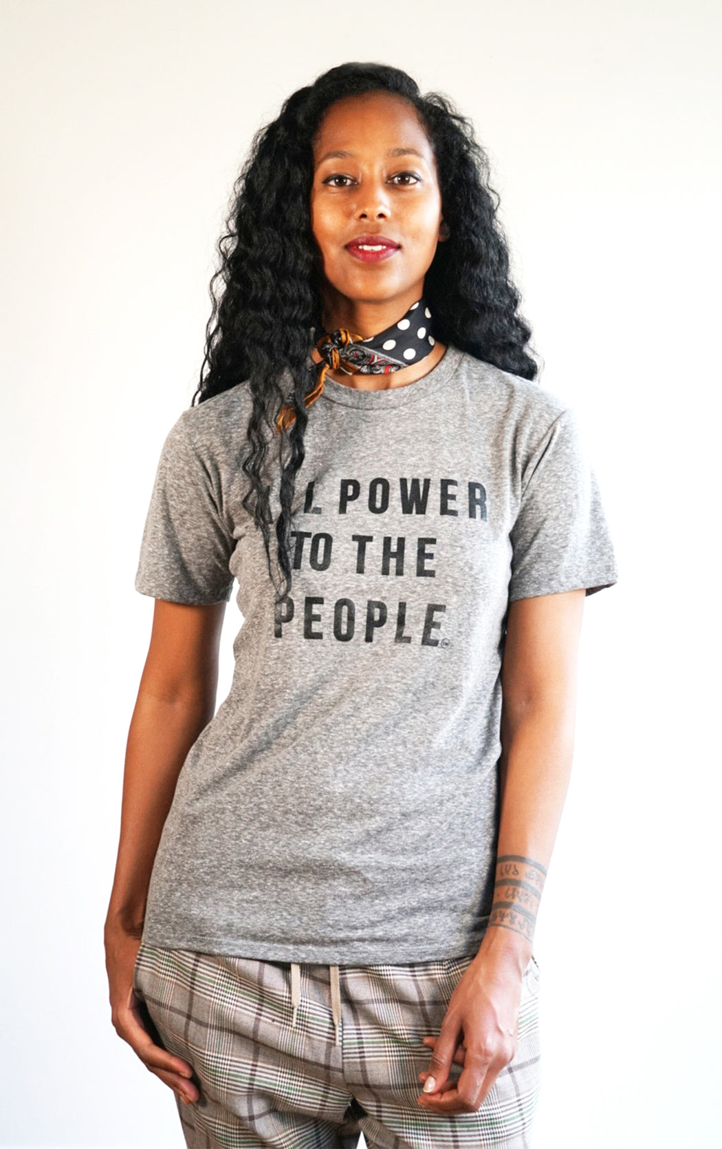 UNISEX POWER TO THE PEOPLE Tshirt (APTTP12)