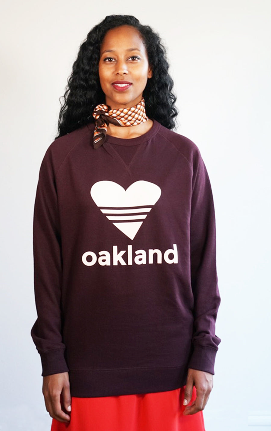 SPORTY HEART / MERLOT Sweatshirt ONW111