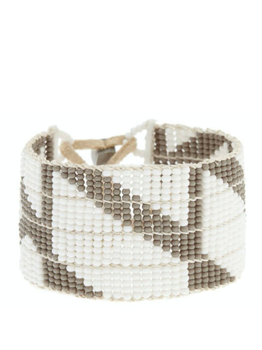 Sidai Rhombus Warrior Bracelet - GREY/WHITE